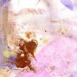 Textura da aquarela do roxo transparente, lilás, rosa, ocre, marrom, cinzento Ilustração Fundo abstrato da aquarela, pontos, bl Fotografia de Stock Royalty Free
