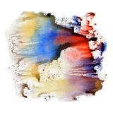Textura da aquarela, uma impressão de cores saturadas brilhantes Ilustração Fundo abstrato da aquarela, pontos, borrão, suficiênc Fotos de Stock
