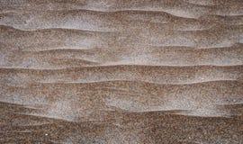 Textura da areia em uma praia imagens de stock