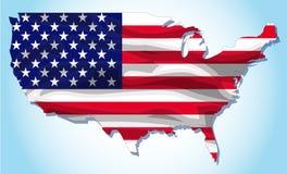 Textura da bandeira de Americ Fotos de Stock Royalty Free