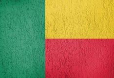 A textura da bandeira de Benin fotos de stock