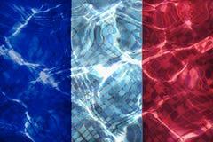 Textura da bandeira de França fotografia de stock