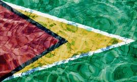 Textura da bandeira de Guiana ilustração do vetor