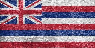 Textura da bandeira de Havaí fotografia de stock royalty free