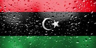 Textura da bandeira de Líbia foto de stock