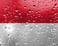 Textura da bandeira de Mônaco foto de stock