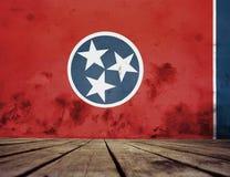 Textura da bandeira de Tennessee imagens de stock