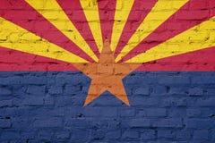 Textura da bandeira do Arizona ilustração stock