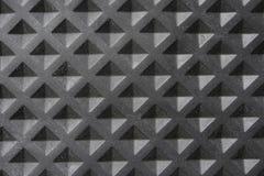 Textura da borracha da telha do quadrado preto Fotografia de Stock