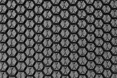 Textura da borracha do preto do hexágono Fotos de Stock
