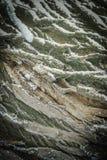 Textura da casca de árvore com neve Fotografia de Stock Royalty Free
