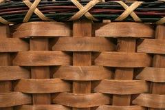 Textura da cesta com beira Fotos de Stock