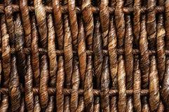 Textura da cesta de vime Fotos de Stock