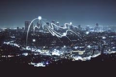 Textura da cidade da noite Imagem de Stock