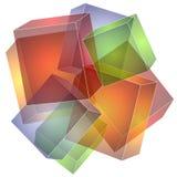 Textura da colagem dos quadrados dos cubos Fotos de Stock Royalty Free