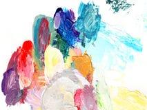 Textura da cor da pintura a óleo Fotografia de Stock Royalty Free