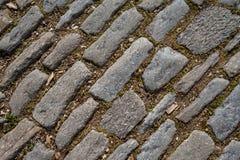 textura da diagonal do pavimento da Colocar-pedra Imagens de Stock Royalty Free