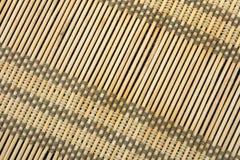 Textura da esteira de Bambo Imagem de Stock
