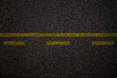 Textura da estrada asfaltada Fotos de Stock Royalty Free