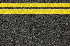 Textura da estrada com linhas fotografia de stock