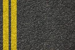 Textura da estrada com linhas Fotografia de Stock Royalty Free