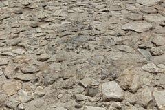 Textura da estrada de pedra antiga. Imagem de Stock