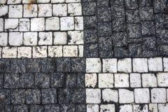 Textura da estrada de pedra da estrutura imagens de stock