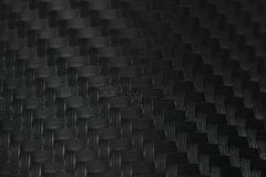 Textura da etiqueta da fibra do carbono Material preto luxuoso Fotografia de Stock Royalty Free