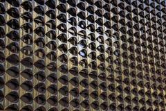 A textura da fachada do metal da construção foto de stock
