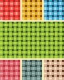 Textura da fibra do Weave Multicolour Fotografia de Stock