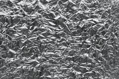 Textura da folha de lata amarrotada Foto de Stock Royalty Free