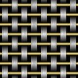 Textura da grade abstrata em um fundo preto ilustração do vetor