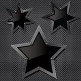 Textura da grade com estrelas Fotos de Stock