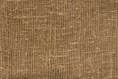 Textura da lona de linho de Brown Imagens de Stock