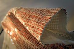 Textura da luva da forma da lantejoula Fotografia de Stock