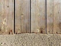 Textura da madeira e da areia naturais Foto de Stock Royalty Free