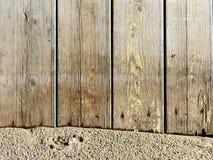 Textura da madeira e da areia naturais Imagens de Stock Royalty Free