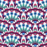 Textura da mandala em cores brilhantes Fundo abstrato do vetor Teste padrão sem emenda no estilo indiano ilustração do vetor