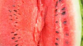 Textura da melancia madura fresca E video estoque
