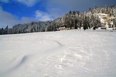 Textura da neve dada forma por um forte vento. Imagem de Stock Royalty Free
