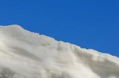 Textura da neve no tom azul Foto de Stock Royalty Free