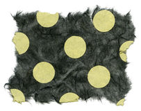 Textura isolada do papel de arroz - às bolinhas verdes  imagem de stock royalty free