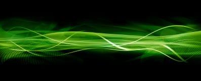 Textura da onda, verde ilustração royalty free