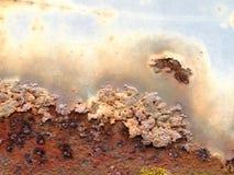 Textura da oxidação do metal fotografia de stock
