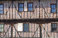 Textura da parede da casa da vila Fotografia de Stock