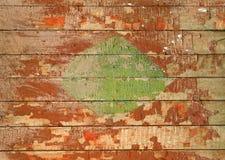 Textura da parede de madeira velha pintada Fotografia de Stock Royalty Free