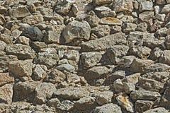 Textura da parede de pedra antiga. Foto de Stock