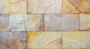 Textura da parede de pedra do retângulo velho para o fundo Fotografia de Stock