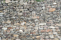 Textura da parede de pedra medieval resistida velha Imagem de Stock Royalty Free