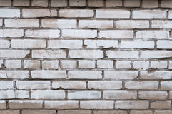 Textura da parede de tijolo cinzenta pintada Fotos de Stock Royalty Free